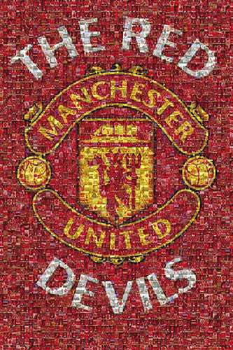 "Manchester United ""The Red Devils"" Photomosaic Poster - GB Eye (UK)"