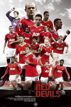 "Manchester United ""The Red Devils"" (2010/11) Poster - GB Eye Inc."