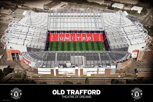 Old Trafford, Theatre of Dreams Manchester United Soccer Stadium Poster - GB Eye (UK)
