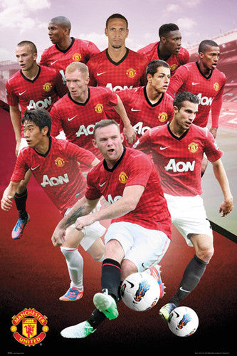 "Manchester United FC ""Big Ten"" (2012/13) Soccer Action Poster - GB Eye (UK)"