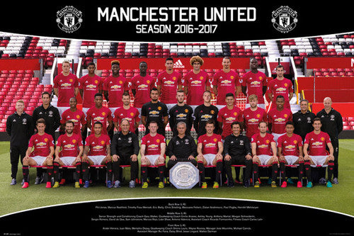 Manchester United FC Official Team Portait 2016/17 EPL Poster - GB Eye (UK)