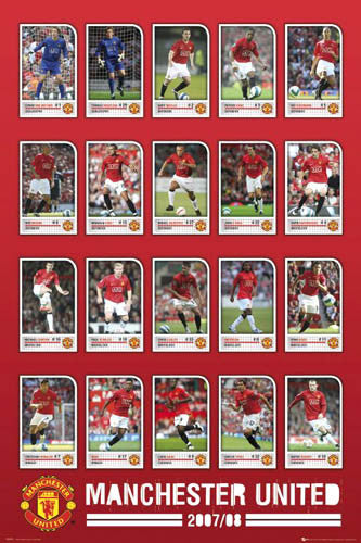 "Manchester United ""Super 20"" (2007/08) - GB Posters"