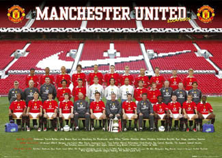 Manchester United Official Team Poster 2004/05 - GB Posters