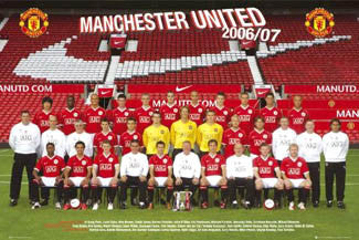 Manchester United Official Team Poster 2006/07 - GB Posters