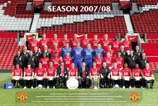 Manchester United 2007/08 Official Team Portrait Poster - GB Posters