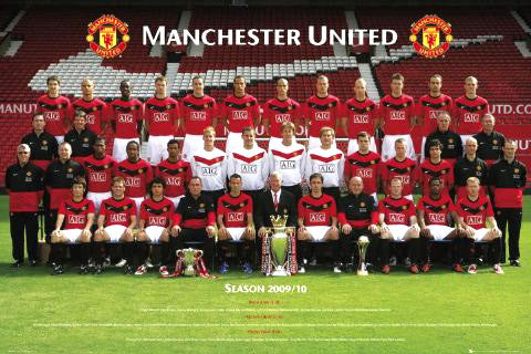 Manchester United Official Team Portrait 2009/10 Wall POSTER - GB Eye