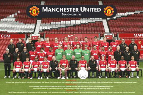Manchester United FC 2011/12 Official Team Portrait Poster - GB Eye (UK)