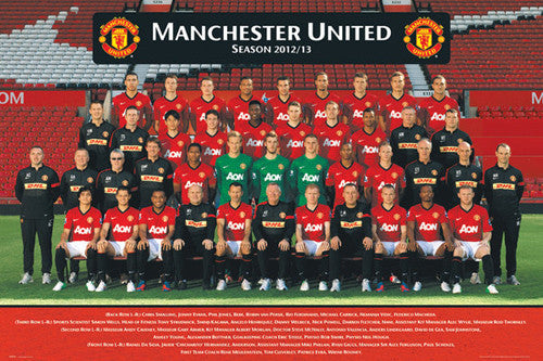 Manchester United FC 2012/13 Official Team Portrait Poster - GB Eye (UK)