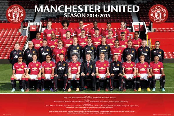 Manchester United FC Official Team Portait 2014/15 Poster - GB Eye (UK)