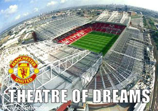 "Manchester United FC ""Theatre of Dreams"" (Old Trafford) Stadium Poster - GB Posters"