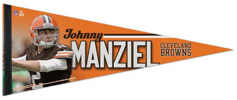 "Johnny Manziel ""Superstar"" Cleveland Browns NFL Action Premium Felt Collector's Pennant"