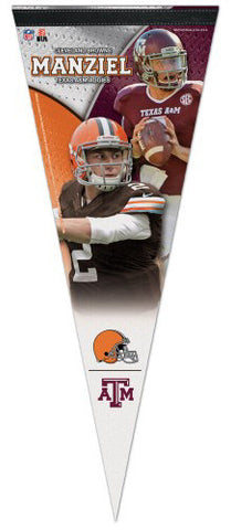Johnny Manziel Texas A&M Aggies/Cleveland Browns Premium Felt Collector's Pennant - Wincraft