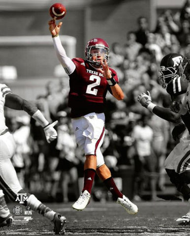 "Johnny Manziel ""Airborn"" Texas A&M Action Premium Poster Print - Photofile 16x20"