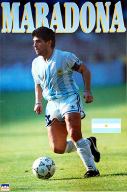 Diego Maradona Argentina Soccer Action Poster (World Cup 1990) - Starline Inc.