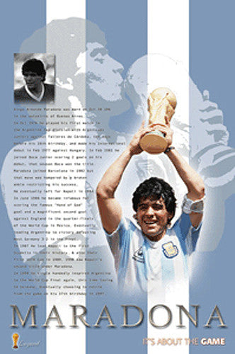 "Diego Maradona ""Legend"" Argentina World Cup Commemorative Poster"