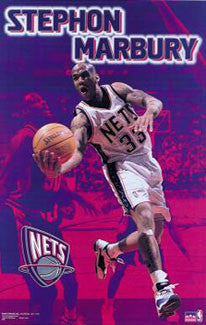 "Stephon Marbury ""Action"" New Jersey Nets Poster - Starline 2000"