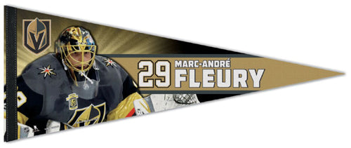 Marc-Andre Fleury Vegas Golden Knights Official NHL Hockey Premium Felt Collector's Pennant - Wincraft
