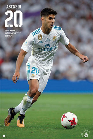 "Marco Asensio ""Superstar"" Real Madrid CF Official La Liga Football Action Poster - Grupo Erik (Spain)"