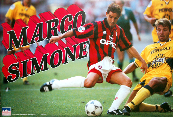 "Marco Simone ""Classic Action"" A.C. Milan Serie A Football Action Poster - Starline Inc. 1997"