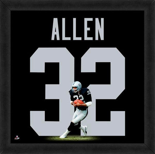 "Marcus Allen ""Number 32"" Los Angeles Raiders FRAMED 20x20 UNIFRAME PRINT - Photofile"