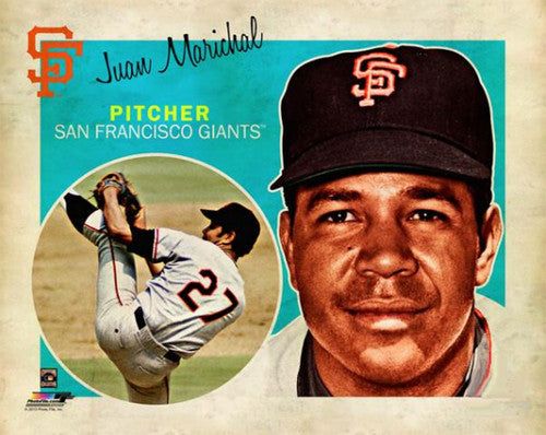 "Juan Marichal ""Retro SuperCard"" San Francisco Giants Premium Poster Print - Photofile 16x20"