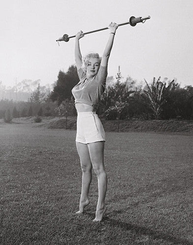 "Marilyn Monroe ""Barbell"" (c.1950) Fitness Poster Print - Jadei Graphics"