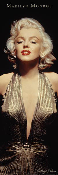 "Marilyn Monroe ""Golden Star"" (DOOR-SIZED) - Pyramid Posters"