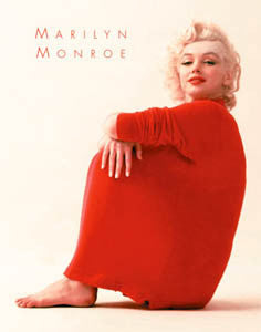"Marilyn Monroe ""Red Sweater"" Classic Fashion Poster - Milton H. Greene"