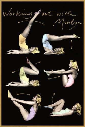 "Marilyn Monroe ""Working Out With Marilyn"" (1950) Poster - Wizard & Genius"
