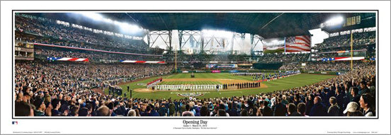 "Safeco Field ""Opening Day"" Seattle Mariners Panoramic Poster Print - Everlasting 2014"