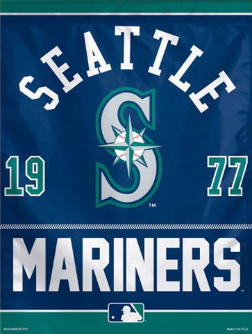 "Seattle Mariners ""1977"" Premium MLB Collector's BANNER - Wincraft Inc."