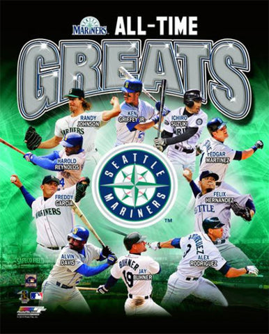 Seattle Mariners Baseball All-Time Greats (10 Legends) Premium Poster Print - Photofile
