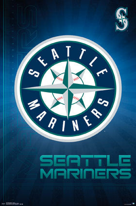 Seattle Mariners Official MLB Baseball Team Logo Poster - Trends International