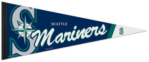 Seattle Mariners Official MLB Baseball Team Premium Felt Pennant - Wincraft Inc.