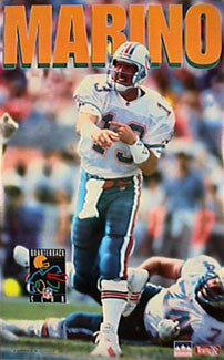 "Dan Marino ""QB Club"" Miami Dolphins NFL Football Action Poster - Starline Inc. 1994"