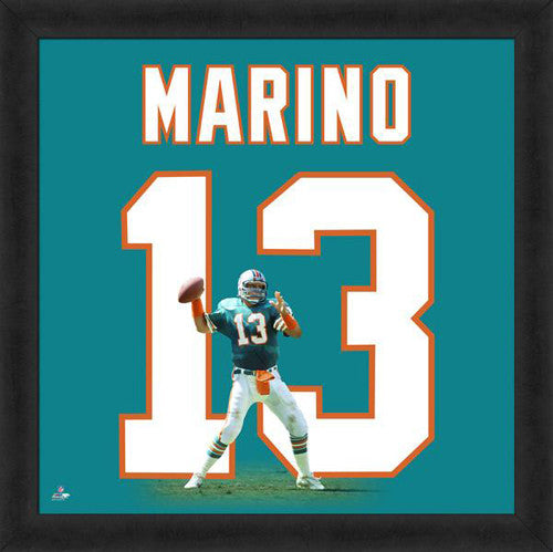 "Dan Marino ""Number 13"" Miami Dolphins NFL FRAMED 20x20 UNIFRAME PRINT - Photofile"