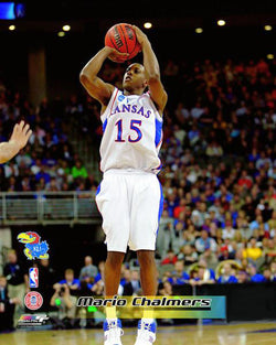 "Mario Chalmers ""Classic Jumper"" Kansas Jayhawks Basketball Premium Poster Print - Photofile Inc."