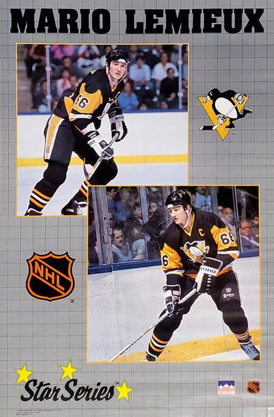 Mario Lemieux Star-Series Pittsburgh Penguins NHL Hockey Action Poster - Starline 1989