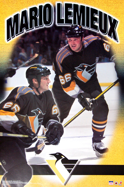 "Mario Lemieux ""Action 2001"" Pittsburgh Penguins Poster - Starline Inc."