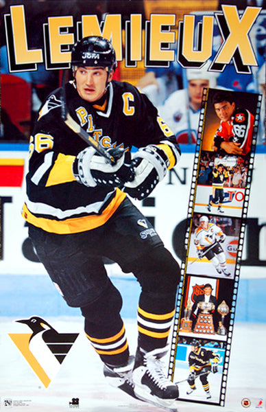 "Mario Lemieux ""Six Shot"" Pittsburgh Penguins Poster - Norman James Corp. 1994"