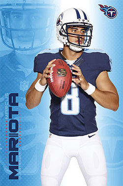 "Marcus Mariota ""Field General"" Tennessee Titans QB NFL Football POSTER - Trends International"