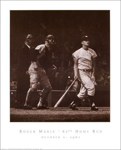 "Roger Maris ""61st Home Run"" (1961) New York Yankees Poster Print - NYGS"