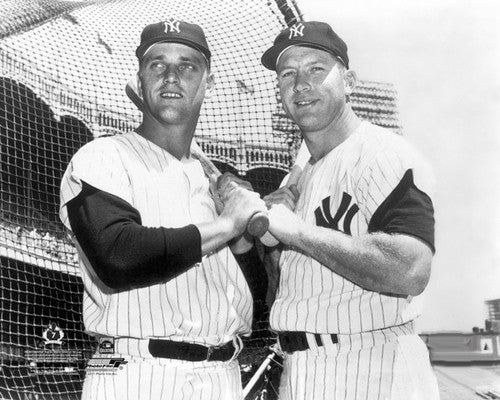 "Roger Maris and Mickey Mantle ""61 Forever"" New York Yankees Premium Poster Print - Photofile Inc."