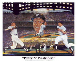 "Mickey Mantle ""Power 'n Pinstripes"" - Robert Stephen Simon"
