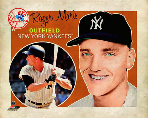 "Roger Maris ""Retro SuperCard"" New York Yankees Premium Poster Print - Photofile 16x20"