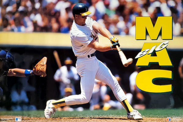 "Mark McGwire ""Big Mac"" Oakland A's MLB Baseball Action Poster - Costacos Brothers 1991"