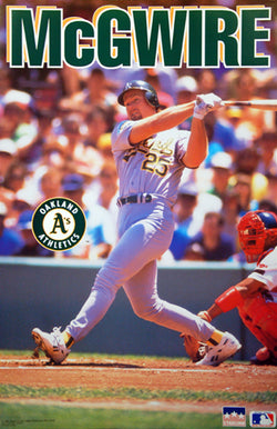 "Mark McGwire ""Prime Action"" (1992) Oakland A's Poster - Starline Inc."