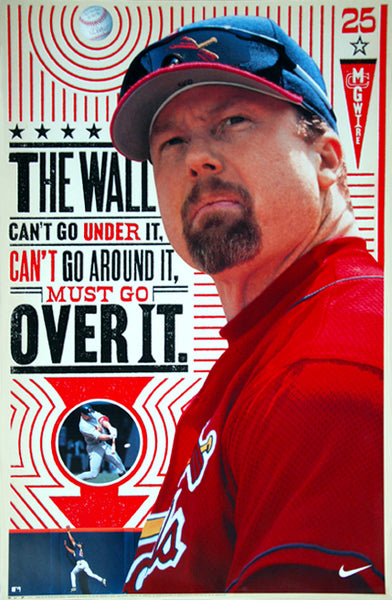 "Mark McGwire ""The Wall"" St. Louis Cardinals Classic Poster - Nike Inc. 2000"