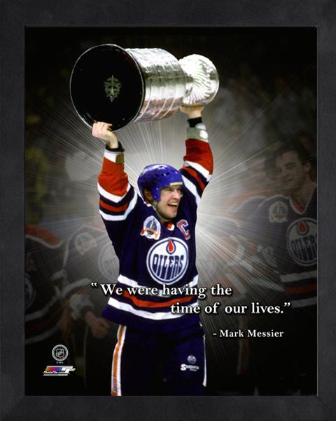 "Mark Messier ""Time of our Lives"" Edmonton Oilers FRAMED 16x20 PRO QUOTES PRINT - Photofile"