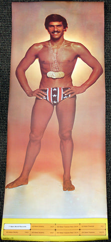 "Mark Spitz ""Seven Gold"" HUGE Door-Sized Original Olympic Swimming Poster - Studio One 1972"